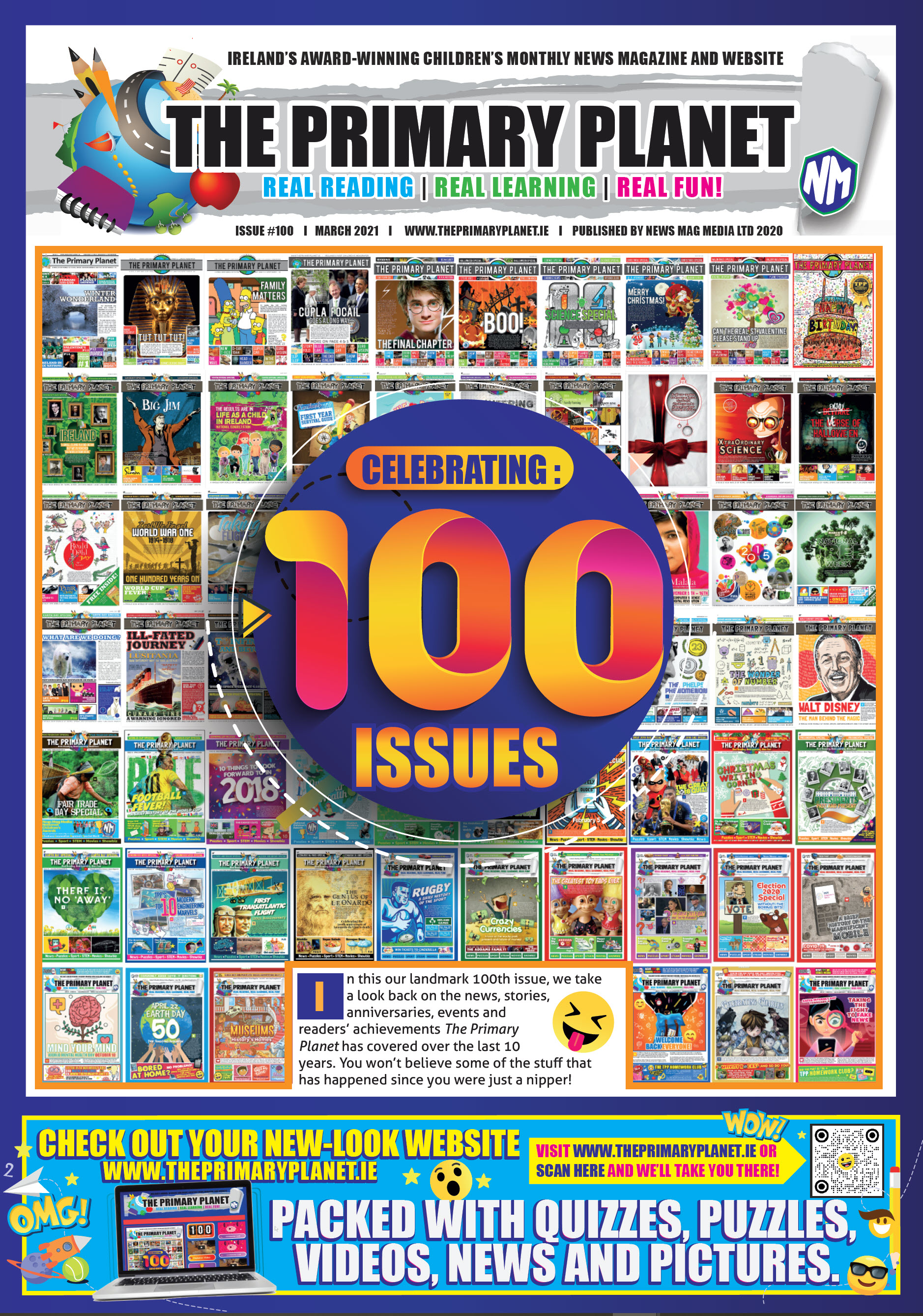 Newsbites Magazines for Schools - MARCH 2021 -- ISSUE #100!